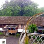 Casa antiga atrás da estação.