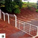 Um portão guarda o local.