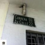 Placa de endereço.
